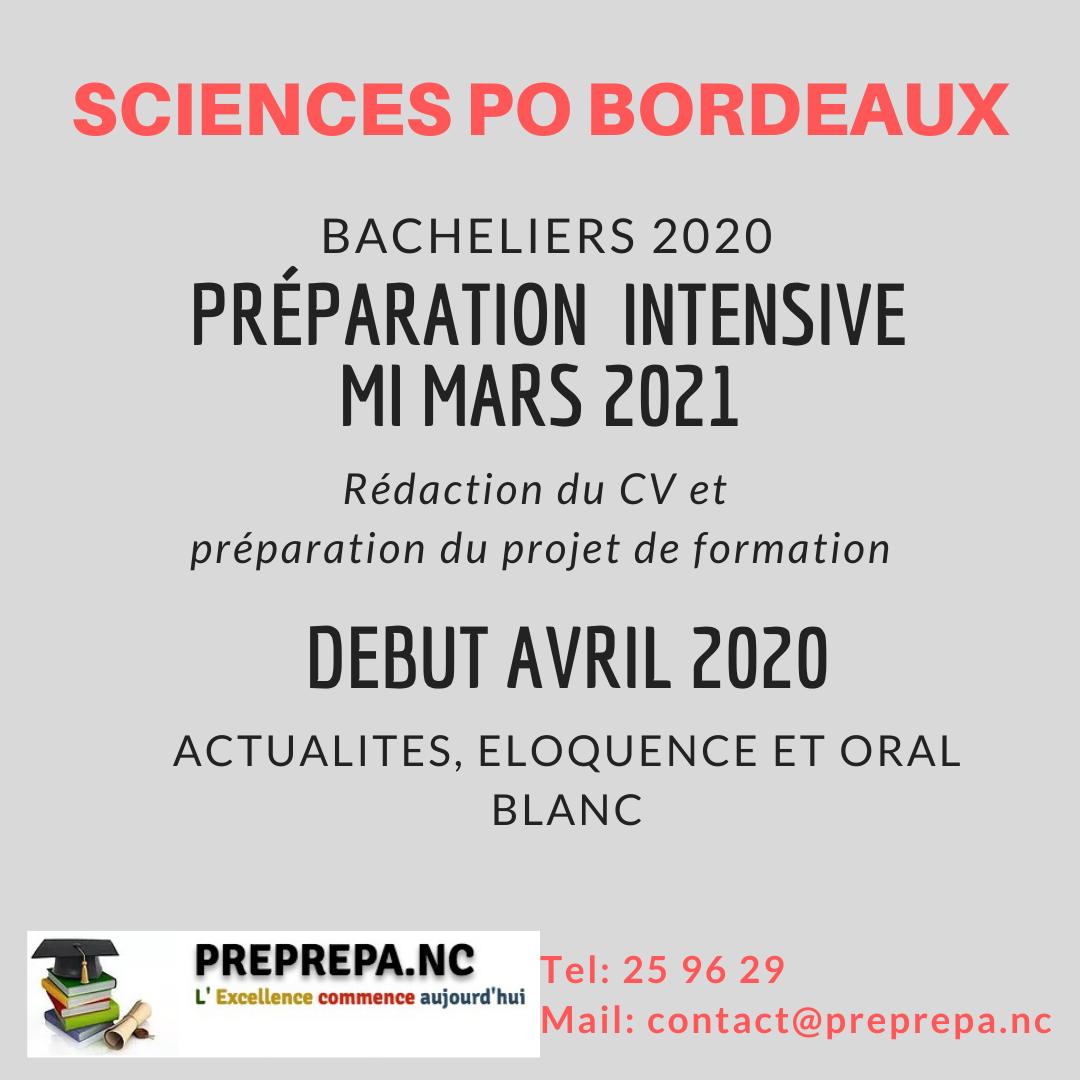 Concours Bordeaux 2020 2021